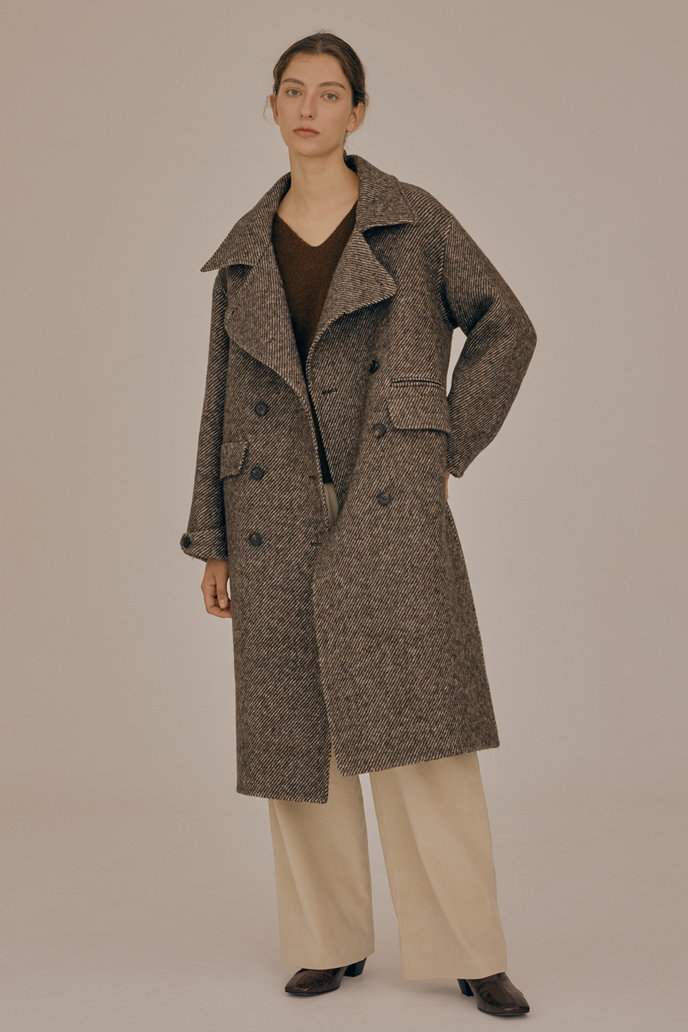 Double french coat_Brown